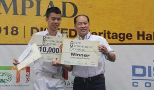 Champion for individual category – Student Yeoh Zi Song from SMJK Chung Ling