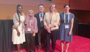 Anisah & the speakers for the session of Resource Sharing Tips and Tricks-Document Delivery and Resource Sharing.